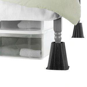 "Bed lifts extra tall black set of 4 - 8"" storage"